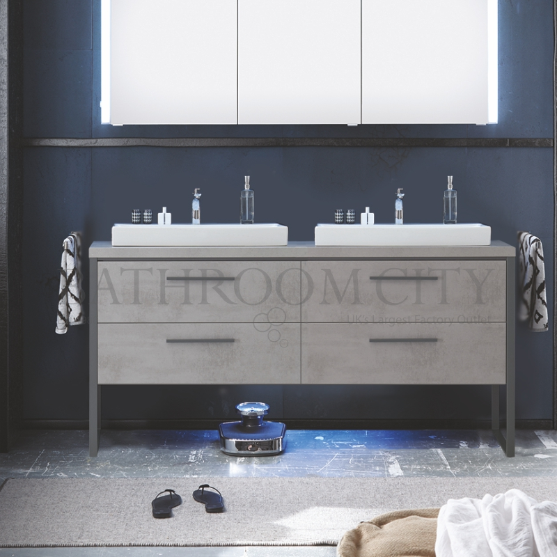 Awesome Solitaire 9025 1580 Vanity Base Unit 4 Drawers With Countertop And Basins Download Free Architecture Designs Ogrambritishbridgeorg