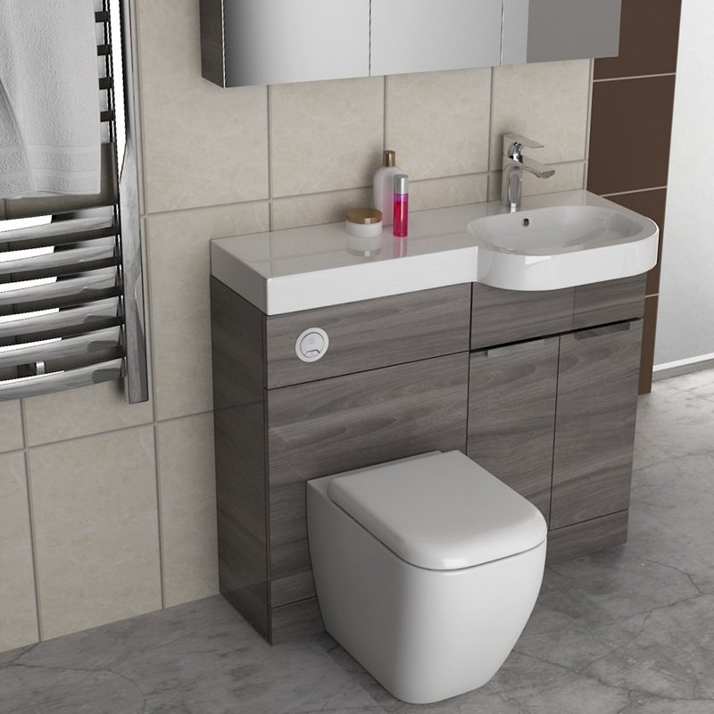 Gravity combination vanity unit blue and basin buy online at bathroom city for Bathroom combination vanity units