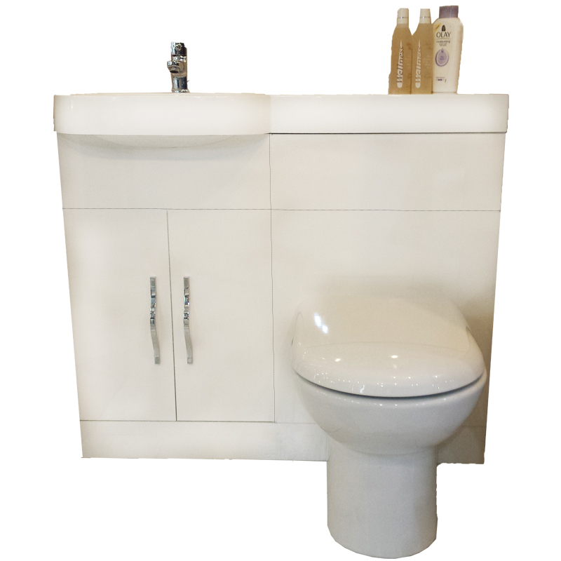 Gravity Combination Vanity Unit White And Basin Bathroom City