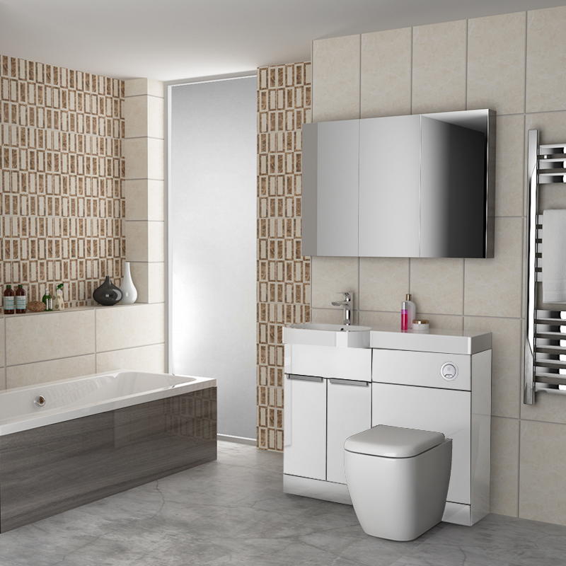 Buy Gravity Combination Vanity Unit White And Basin Online