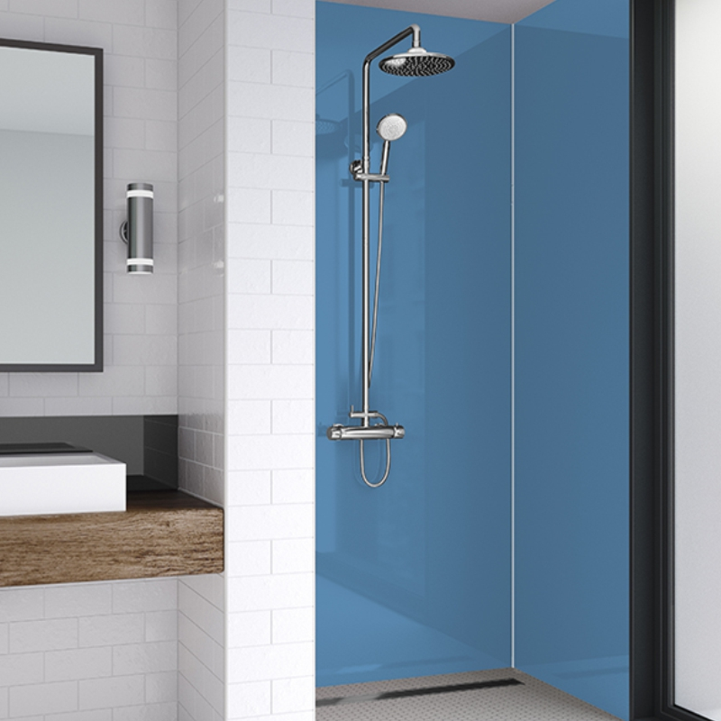 Wetwall Shower Panels Acrylic Sky Blue, Bathroom Shower Panels