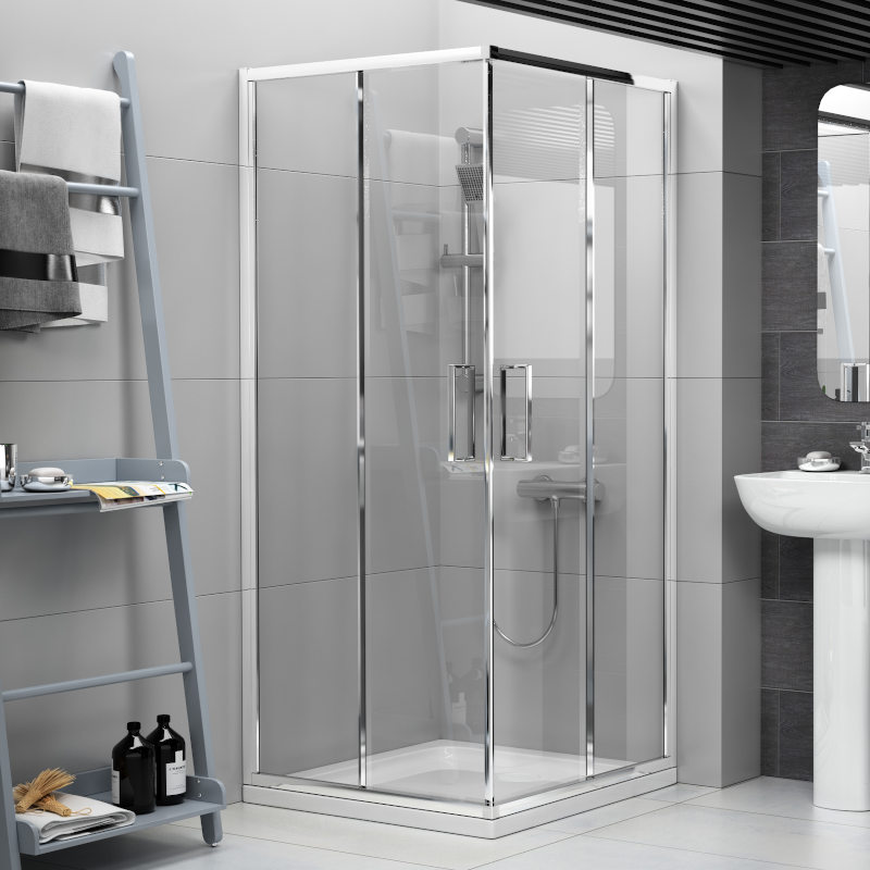 Radiant Shower Cubicle Reduced Height 760mm Corner Buy Online At Bathroom City