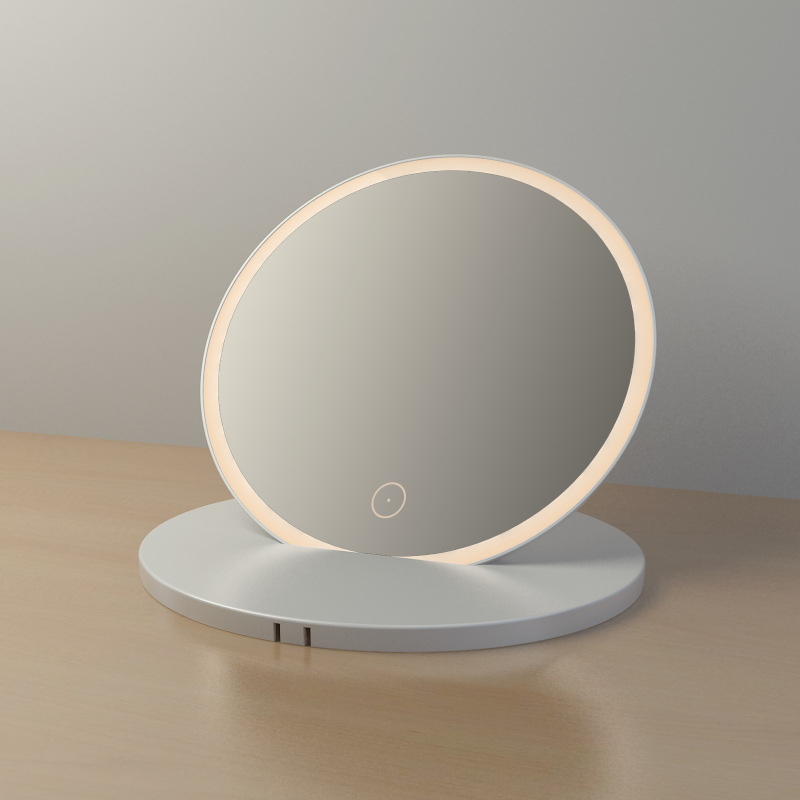 Portable Round Illuminated Bathroom Mirror Battery Buy Online At Bathroom City