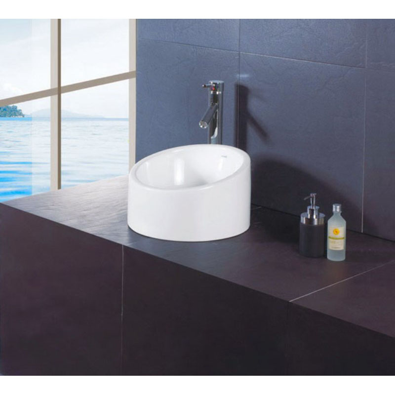 sit on basin with tall tap