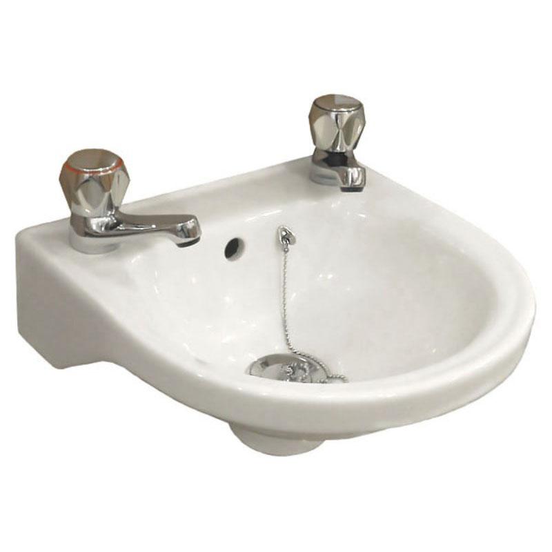 Roseanna 30 Cloakroom Basin With 2 Tap Holes Bathroom City