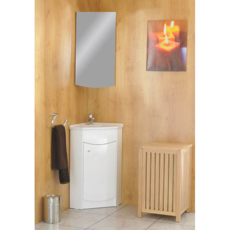 jupe corner mirror cabinet white