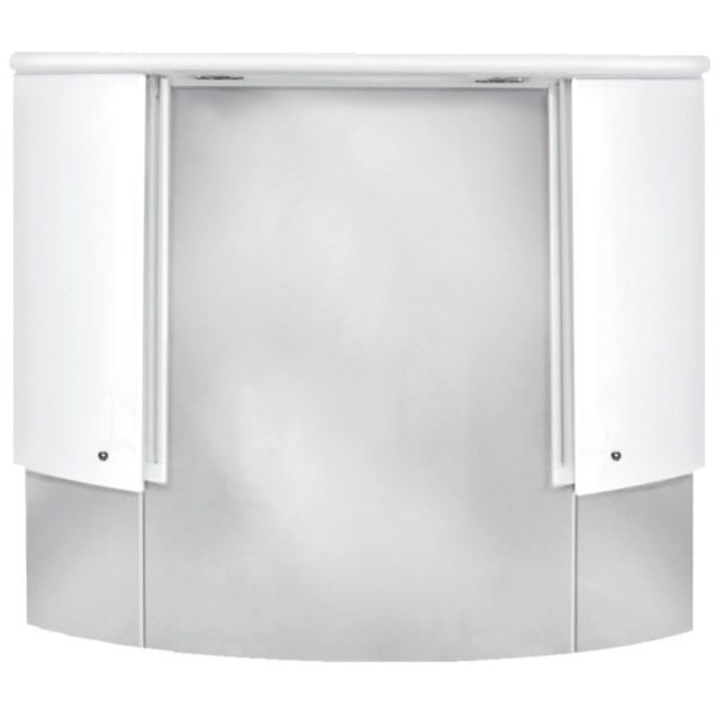 jupe curved camerino mirror cabinet lights white bathroom city