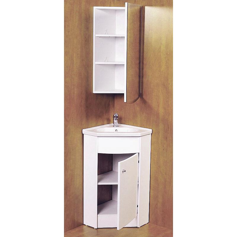Kohler bathroom vanity - Jupe Corner Mirror Cabinet White
