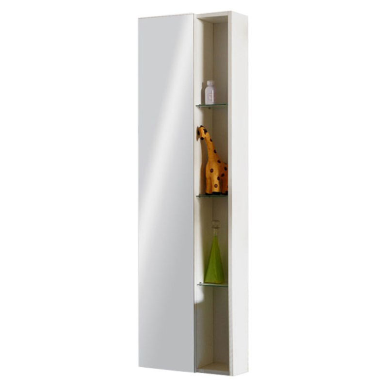 Glow White Wall Hung Mirror Storage Unit Buy Online At Bathroom City