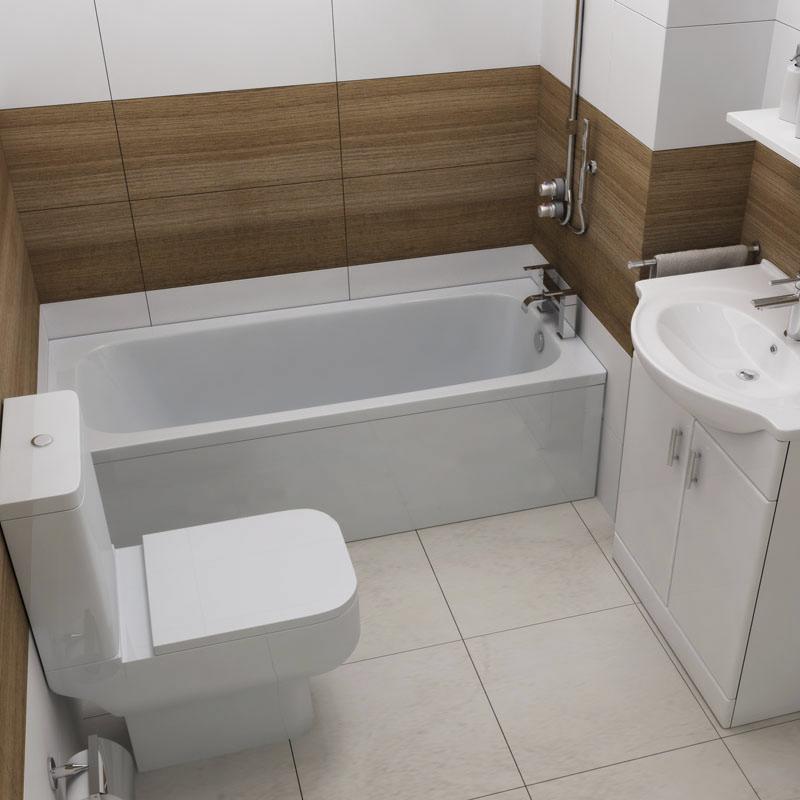 Mercury 1500x700 straight bath bathroom city for Small baths 1500