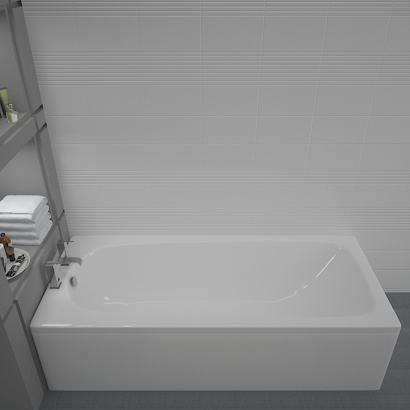 Mercury 1500x700 Straight Bath Buy Online at Bathroom City