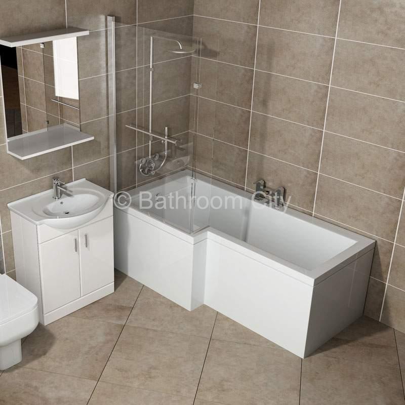 L Shaped Whirlpool Shower Bath Left Handed Buy Online At Bathroom City