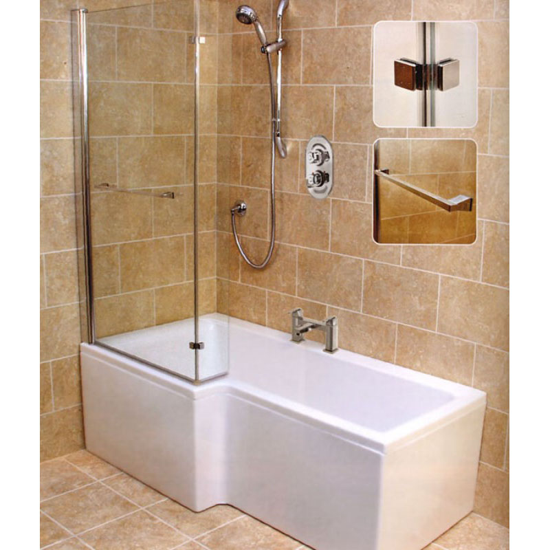 L shape shower bath left handed buy online at bathroom city Bathroom tile showers