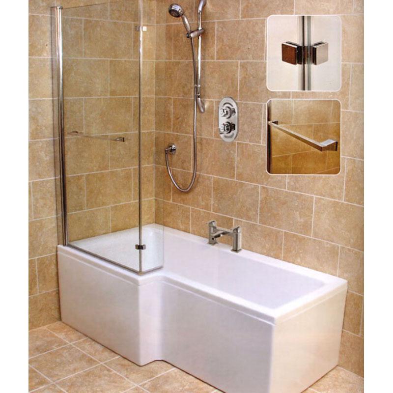 l shape shower bath left handed buy online at bathroom city buy 1700mm l shape shower bath amp screen rh bathshop321