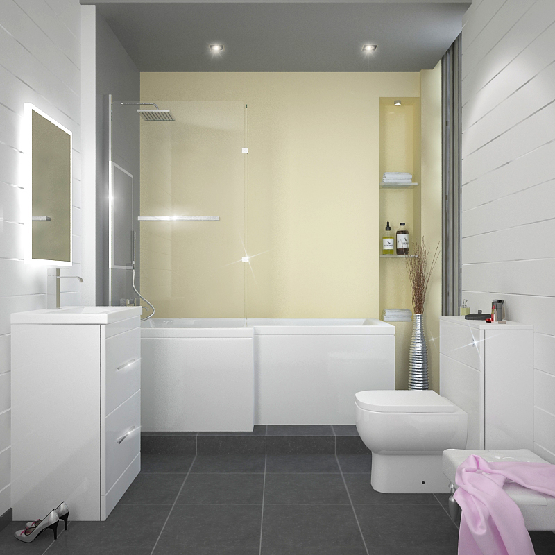 l shape shower bath left handed buy online at bathroom city showercube l shaped bath screen bathstore