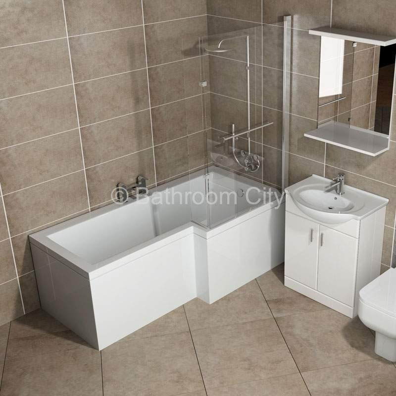 L Shaped Whirlpool Shower Bath (right Handed) Buy Online at Bathroom ...