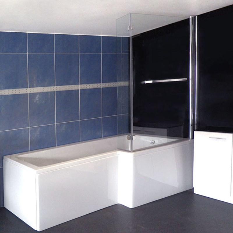L Shape Shower Bath Right Handed Bathroom City