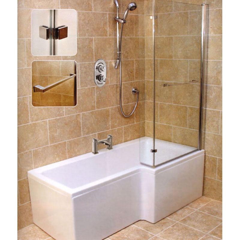 l shape shower bath right handed bathroom city leda l shape shower bath 1500 x 850 with panel amp screen