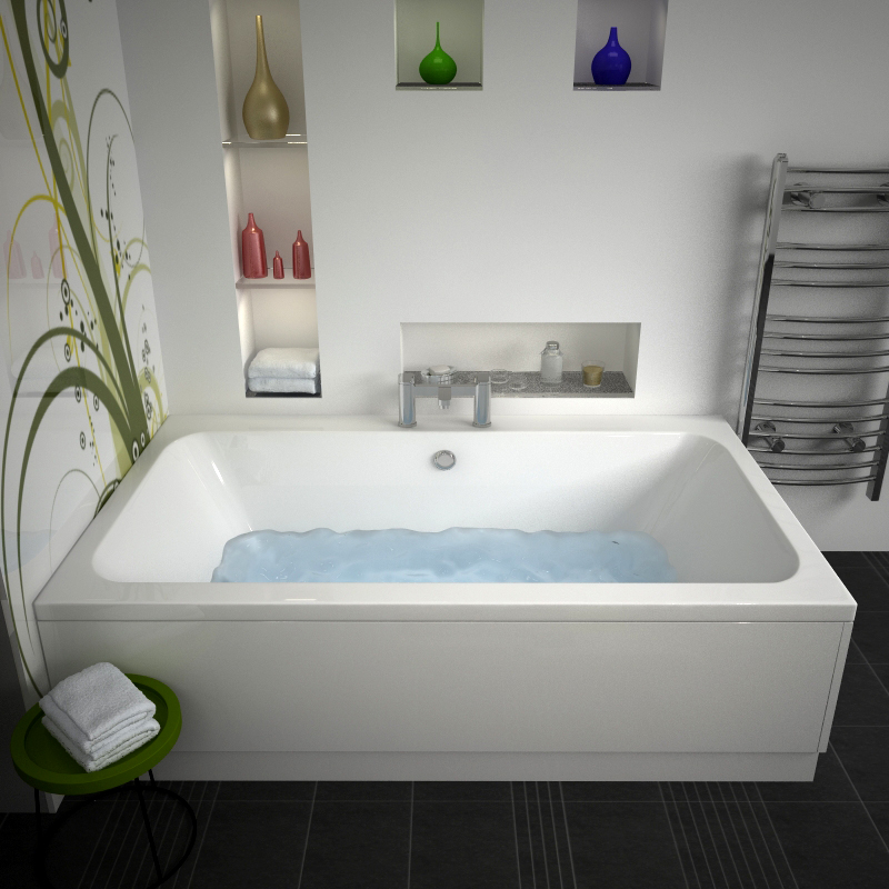 vernwy 1800x1100 jumbo double ended bath buy online at bathroom city. Black Bedroom Furniture Sets. Home Design Ideas