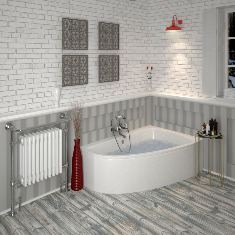 Clia Right Hand Offset Corner Bath, Panel Buy Online at Bathroom City