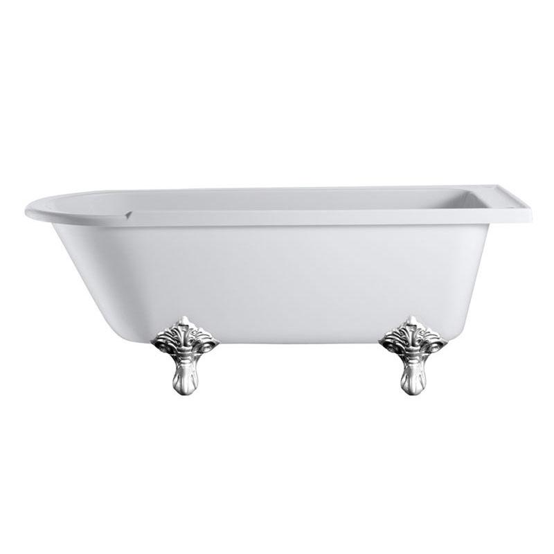Hampton Roll Top 1700 Shower Bath & Trad Legs Buy Online at ...