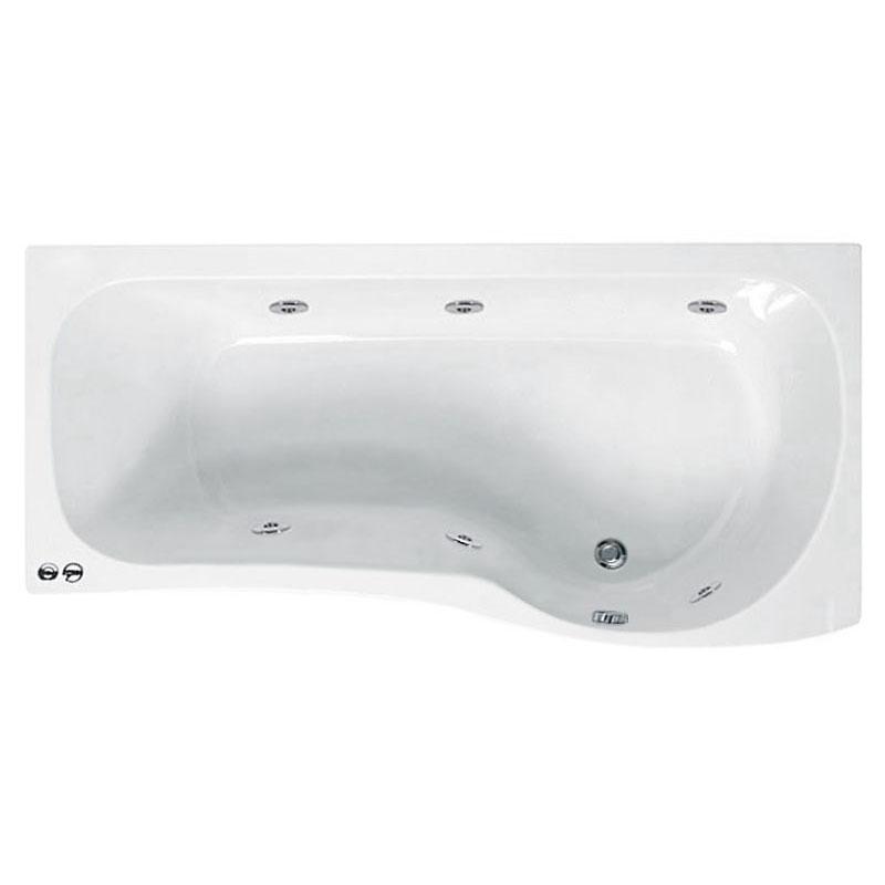 ethan 1700 p shaped whirlpool shower bath rh buy online p shaped shower bath with whirlpool upgrade