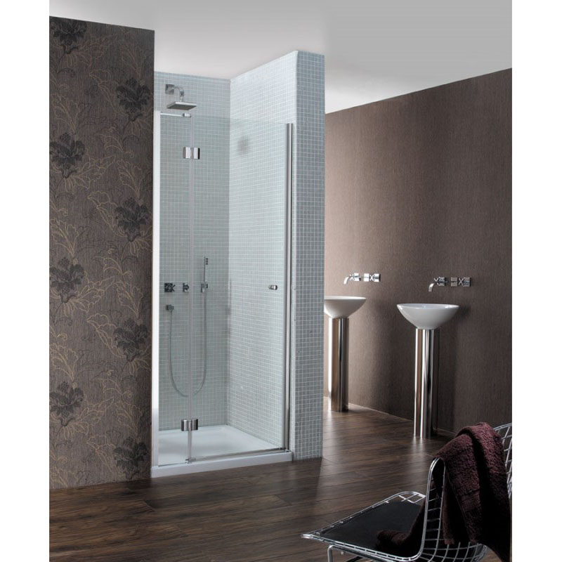 Design Semi Frameless Hinged Shower Door Buy Online At Bathroom City