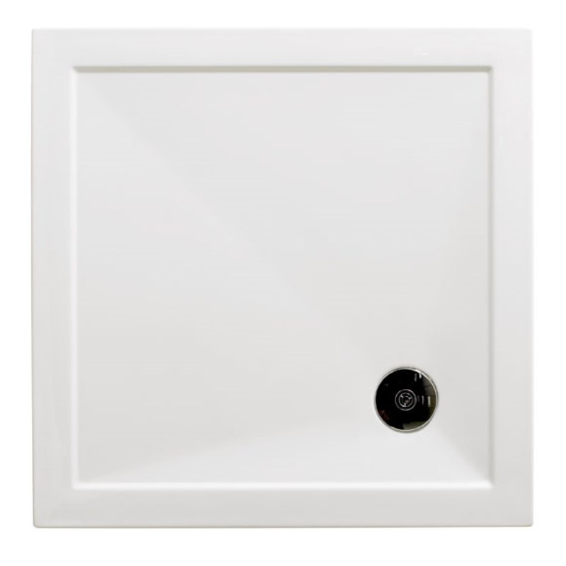 Merveilleux Bathroom City Square Slimline Low Profile Resin Shower Tray ...