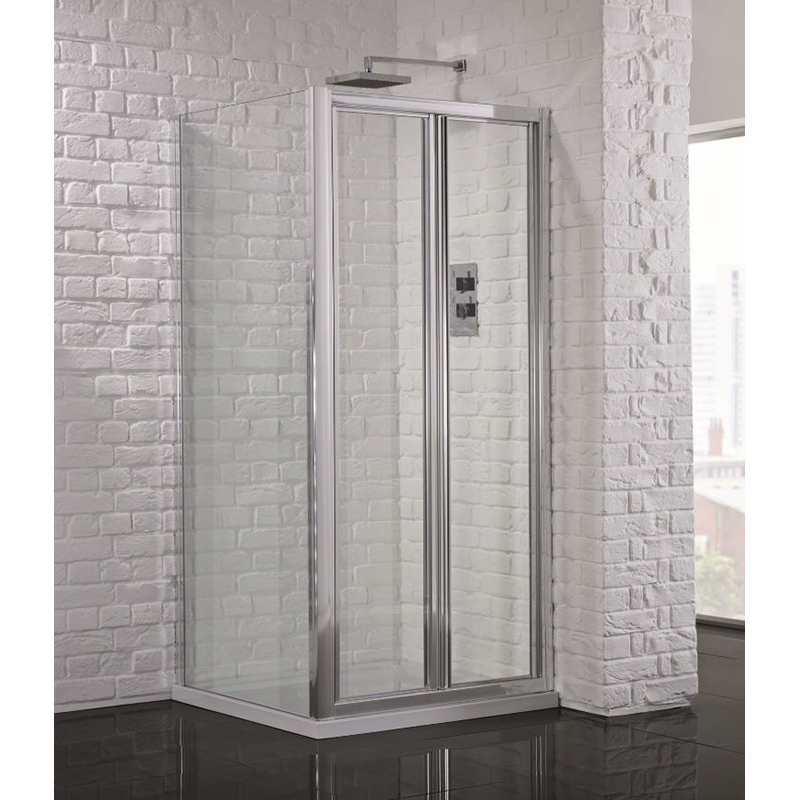 Bathroom City Bifold Shower Door & Side Panel Bathroom Shower ...