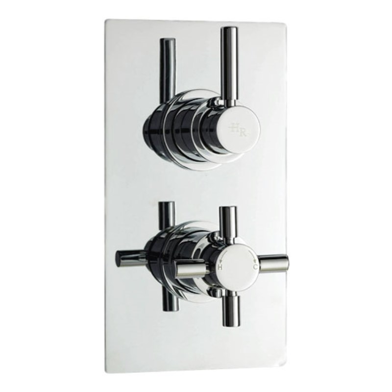 tec Pura Twin Concealed Thermostatic Shower Valve Buy Online at ...
