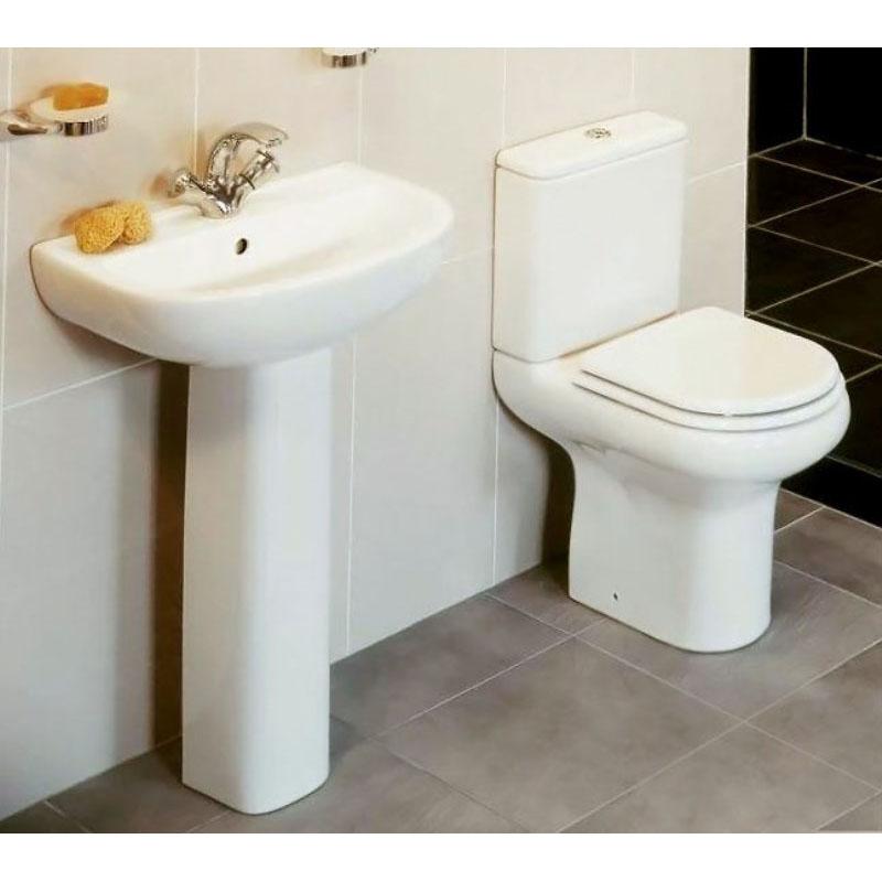 Compact deluxe 4 piece bathroom suite buy online at for Buy bathroom suite uk