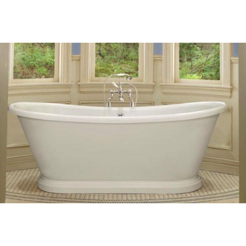 White Acrylic Boat Bath
