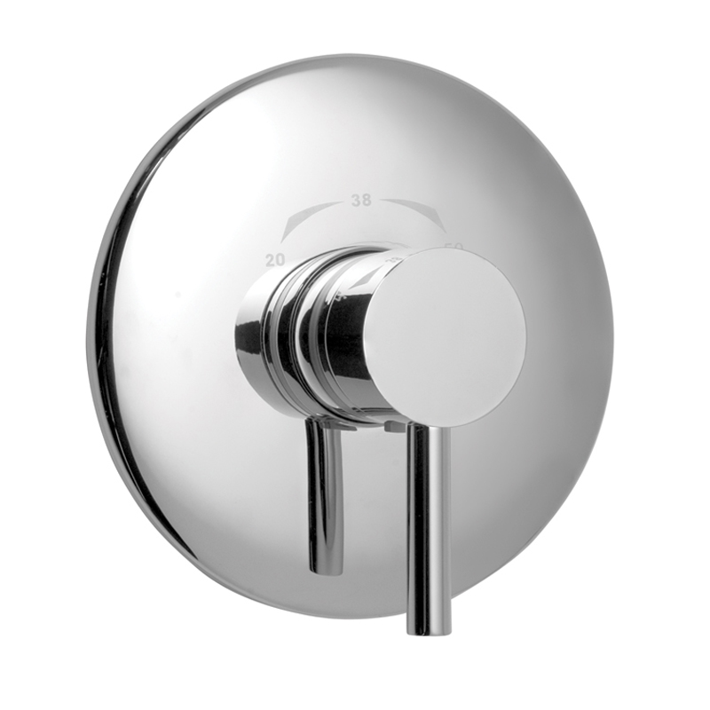 Concealed Thermostatic Shower Valve Single Lever Wall Mounted With Round Backplate Buy Online At