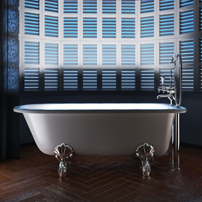 Ascot Roll Top Free Standing 1690 X 750 Bath Buy Online At
