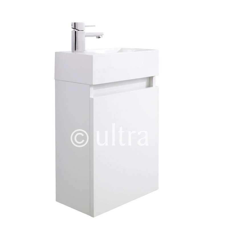 high gloss white zone wall hung basin cabinet bathroom city
