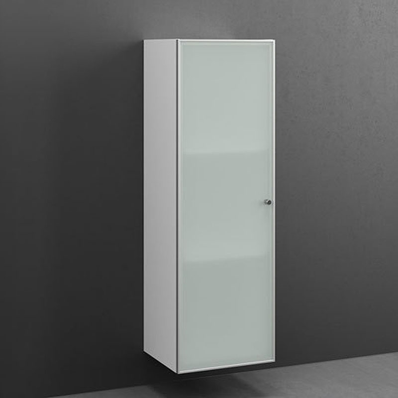 joy tall cabinet 122x40 2 shelves frosted glass bathroom city