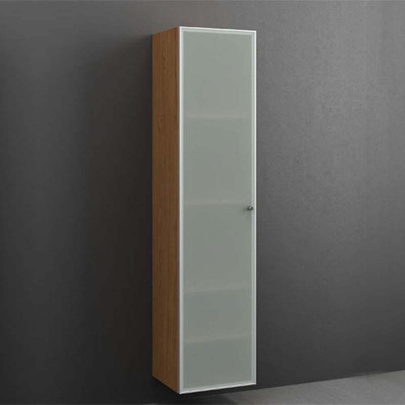 joy tall cabinet 170x40 frosted glass 4 shelves bathroom