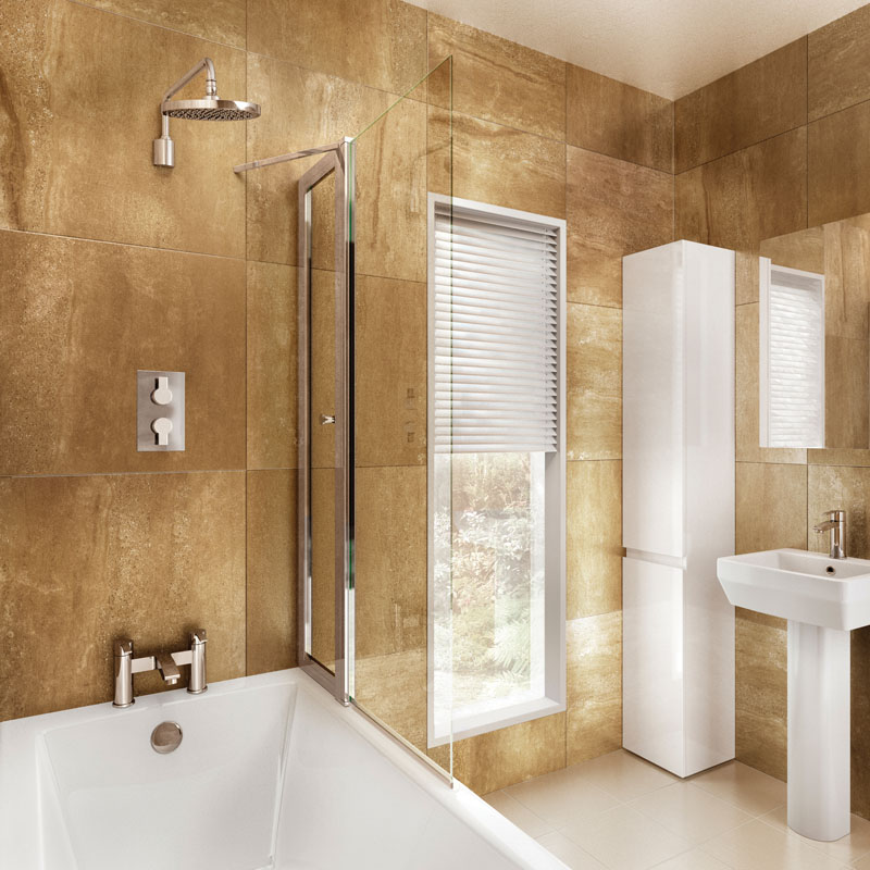 Bathscreen With Access Panel 85cm X 145cm Buy Online at Bathroom City
