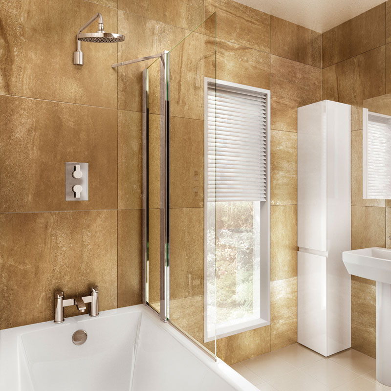 Bathscreen With Panel 85cm X 145cm Buy Online at Bathroom City