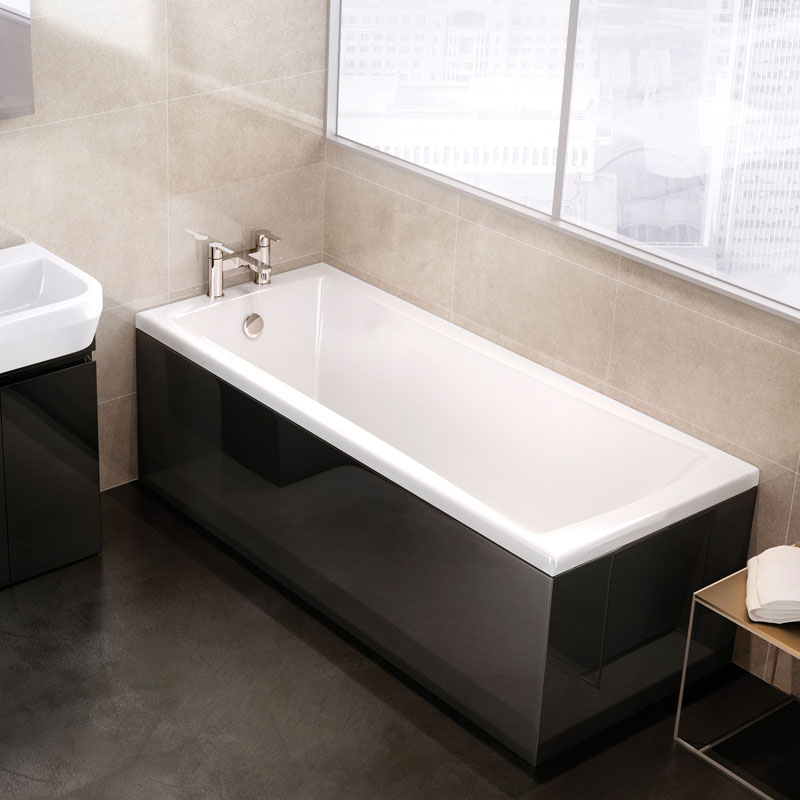 Sustain acrylic bath buy online at bathroom city for Steel bath vs acrylic