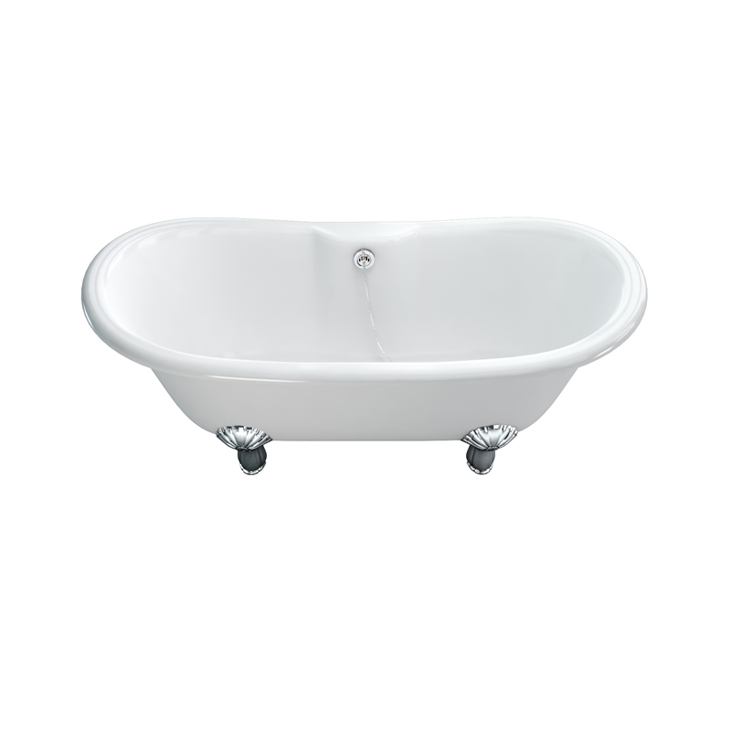 CHandler Double Ended Natural Stone Bath And Luxury Chrome Classic Legs Buy O
