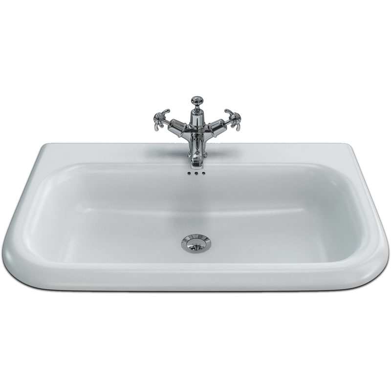 75x47 Roll Top Basin With Overflow Buy Online At Bathroom City