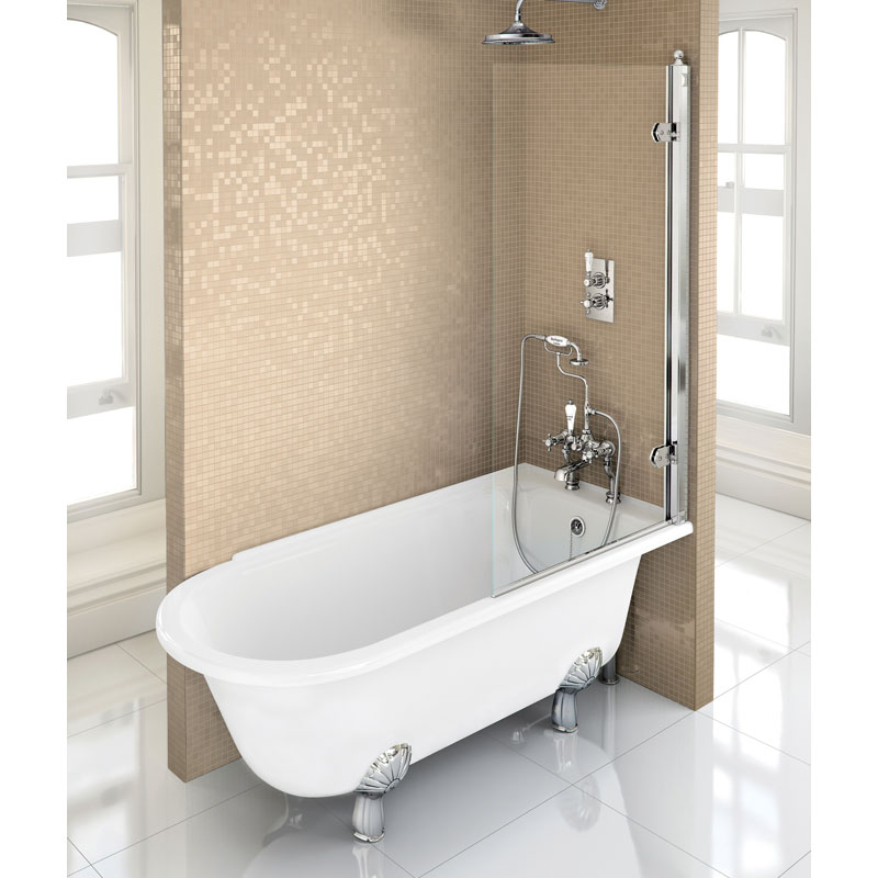 Hampton Showering Bath Left Hand With White Claw Legs Buy Online At Bathroom City