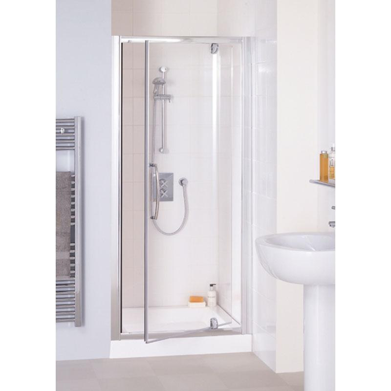 Lakes White Semi Framed Pivot Shower Door Buy Online at Bathroom City