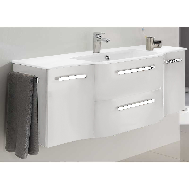Contea 1260 x 480 vanity unit 2 door 2 draw mineral marble basin buy online at bathroom city - Marble vanity units ...
