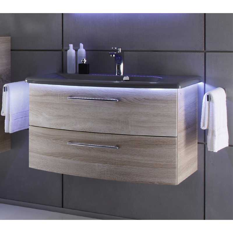 Vanity Unit Lights : Solitaire 7005 845x480 2 Draw Vanity Unit And Basin With Led Light Bathroom City