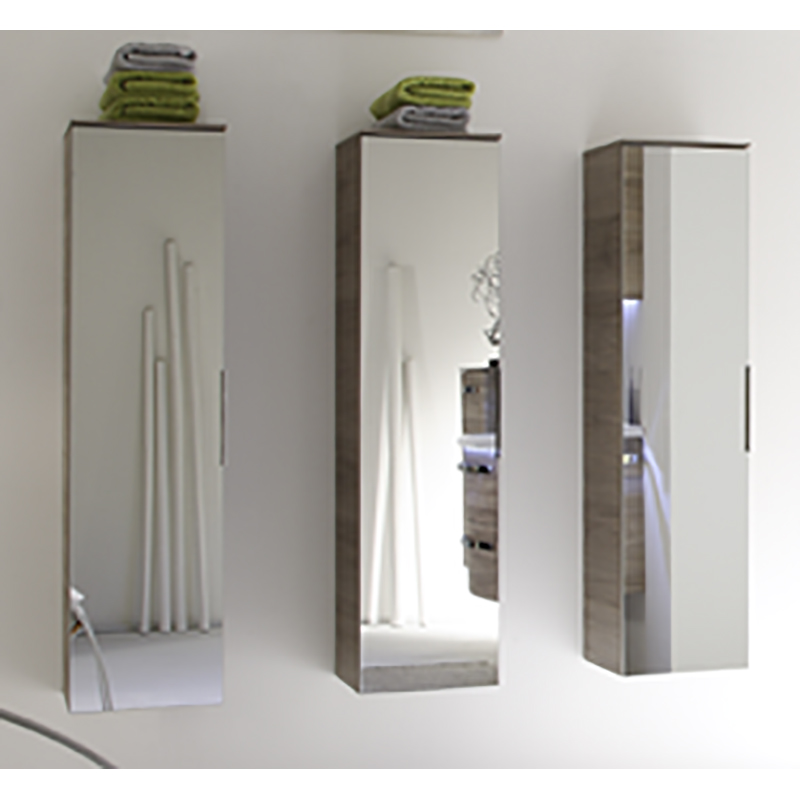 solitaire tall cabinet mirror 1680 x 300 x 330 bathroom city