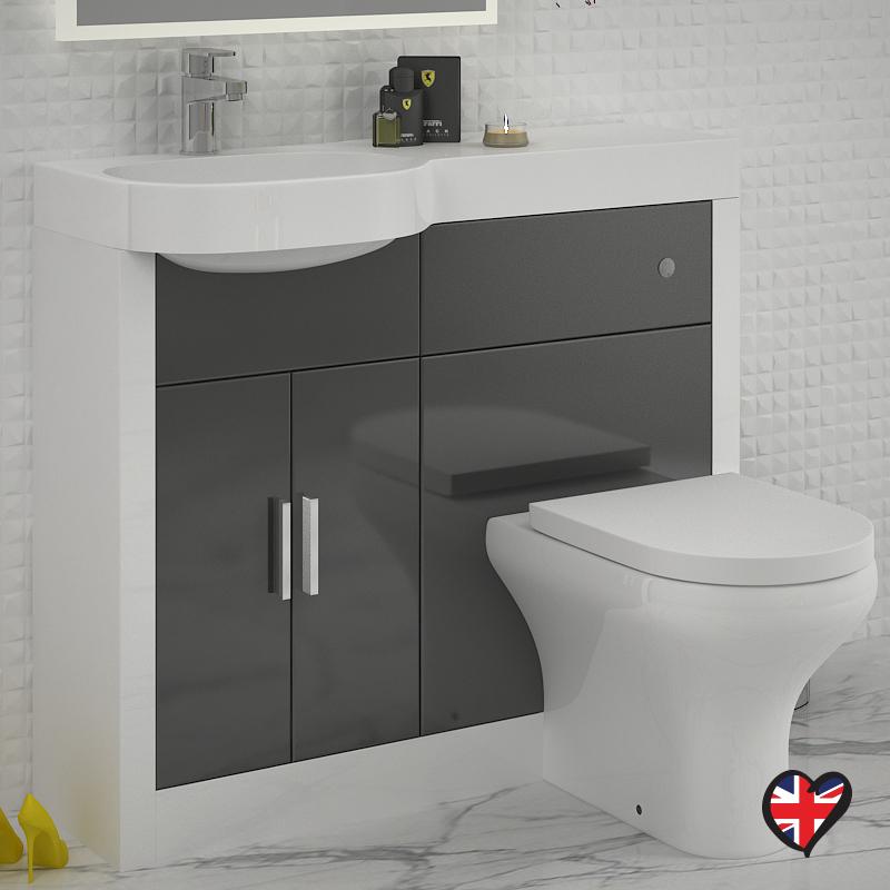 Wonderful Burford Pebble Grey Fitted Bathroom Furniture  Roper Rhodes