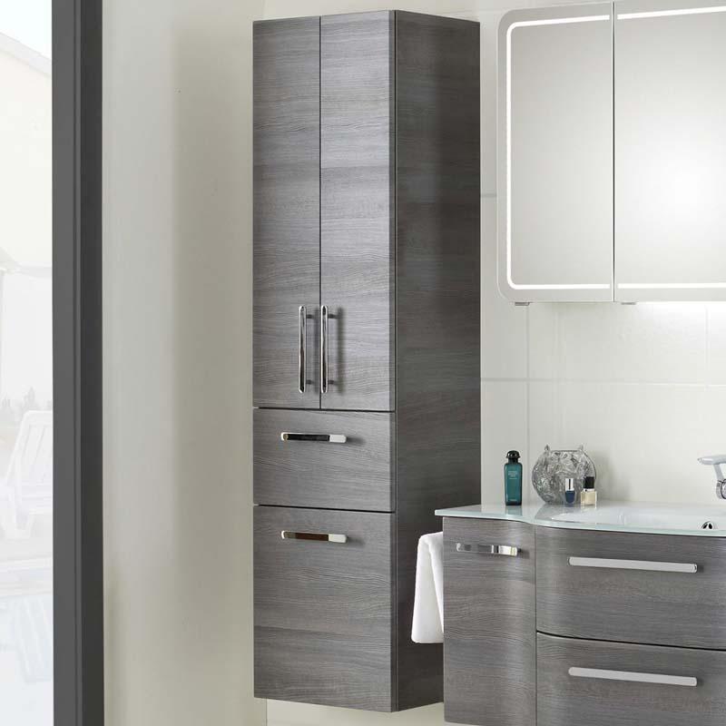 Tall Bathroom Cabinet With Drawers: Contea Tall Boy 3 Door 1 Drawer Bathroom Storage Cabinet