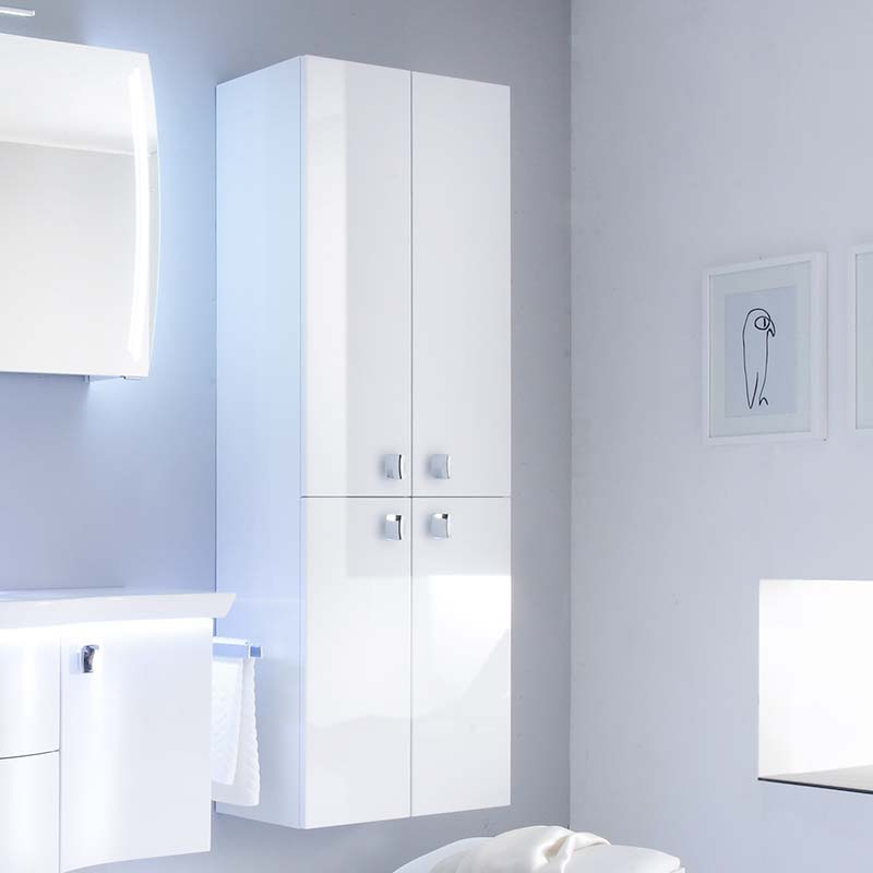 Contea Tall Boy Bathroom Storage Cabinet 4 Door